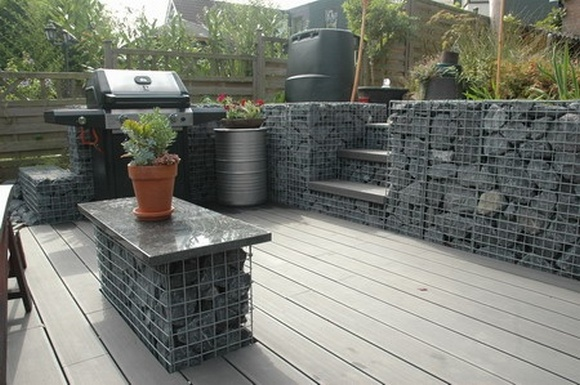 wall seat gabion retaining drivewayjpg gabion terraced retaining_walls - Gabion Retaining Wall Design