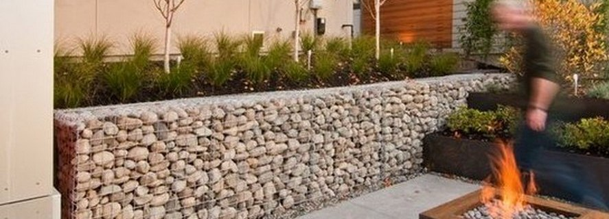 Gabion baskets welded mesh rock stone walls Gabion1 UK