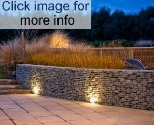 gabion wall with stones