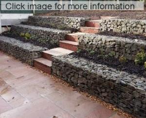 stepped gabion wall