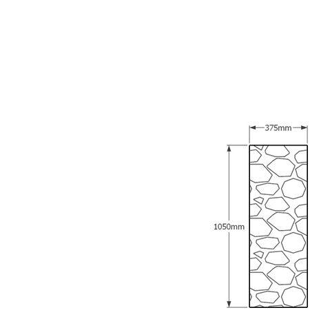 1050 x 375mm gabion profile