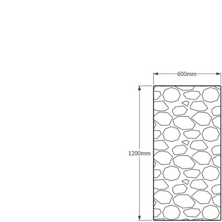 1200 x 600mm gabion profile