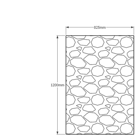 1200 x 825mm gabion profile