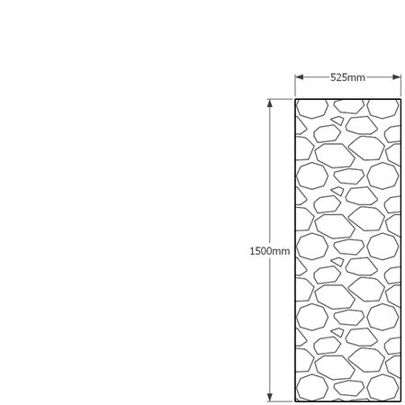 1500 x 525mm gabion profile