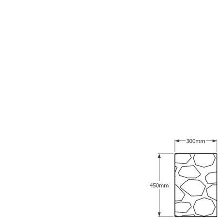 450 x 300mm gabion profile