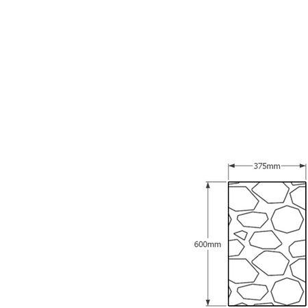 600 x 375mm gabion profile