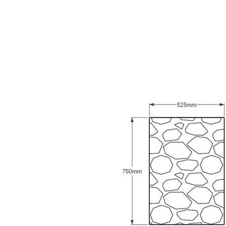 750 x 525mm gabion profile