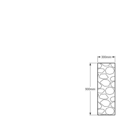 900 x 300mm gabion profile