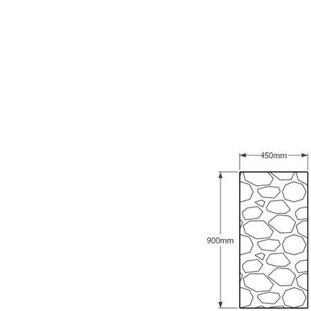 900 x 450mm gabion profile