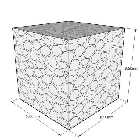 1050mm cube