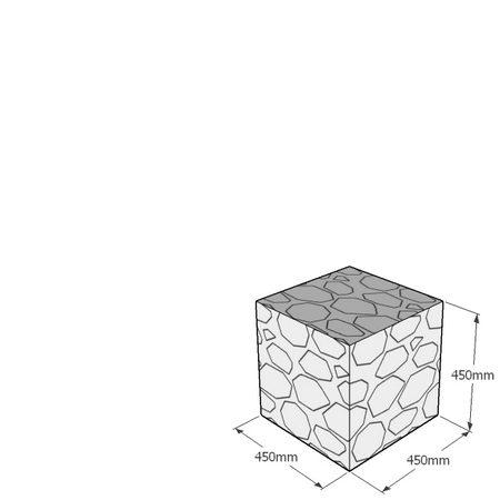 450mm gabion cube