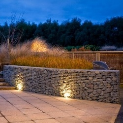 night lit gabions