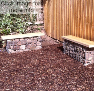 brick coloured gabions