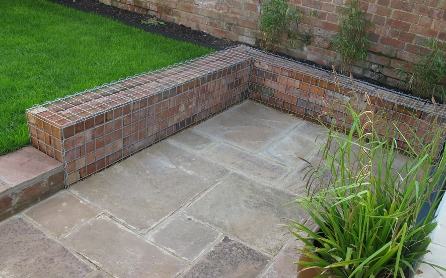 Brick filled gabions Gabion1 UK