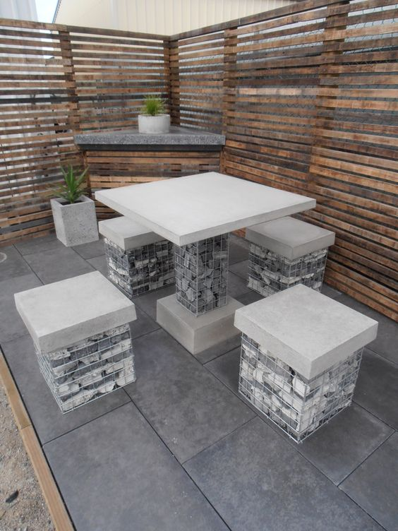 gabion seating idea