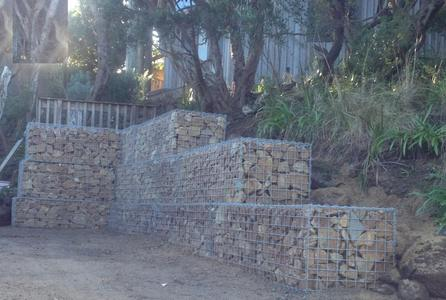gabion wall with surcharge