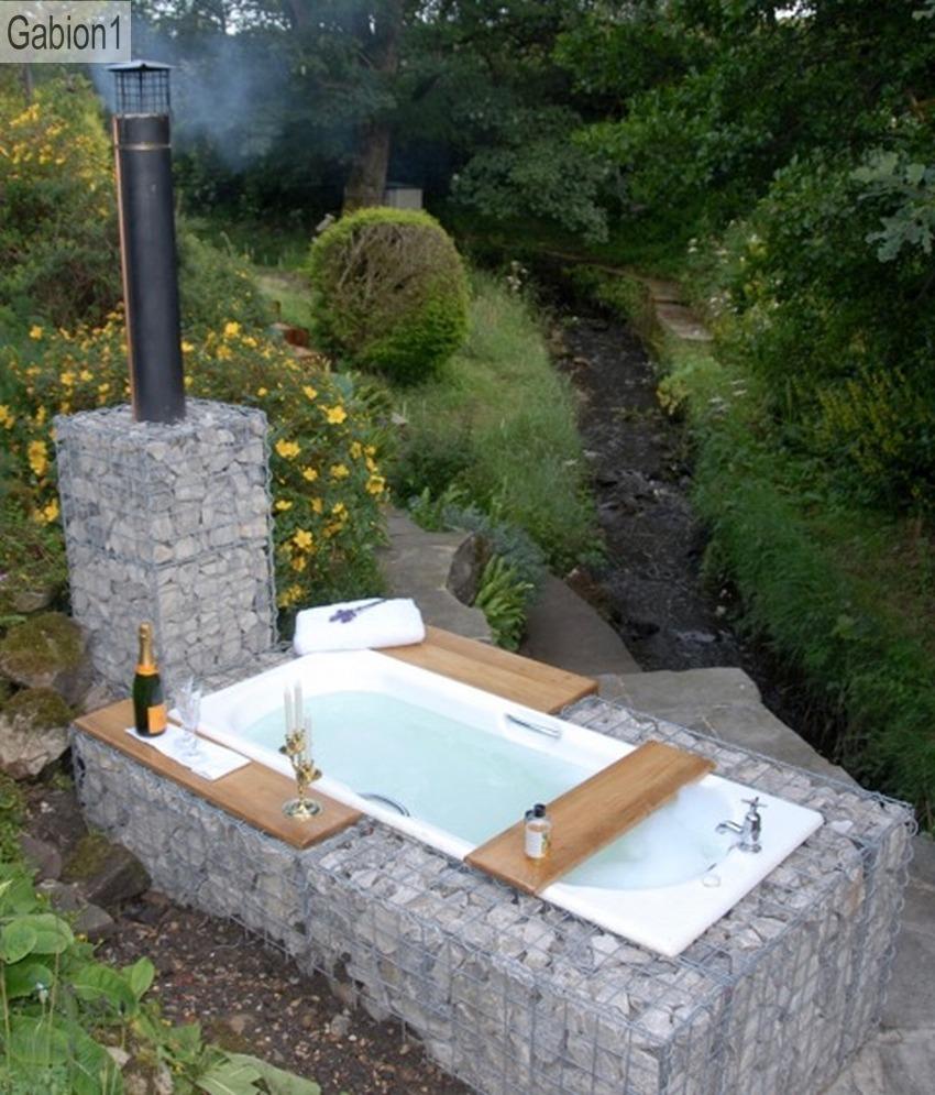 Gabion Outdoor Bath Gabion1 Uk