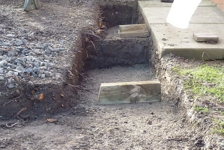 stepped foundation example - Gabion Retaining Wall Design