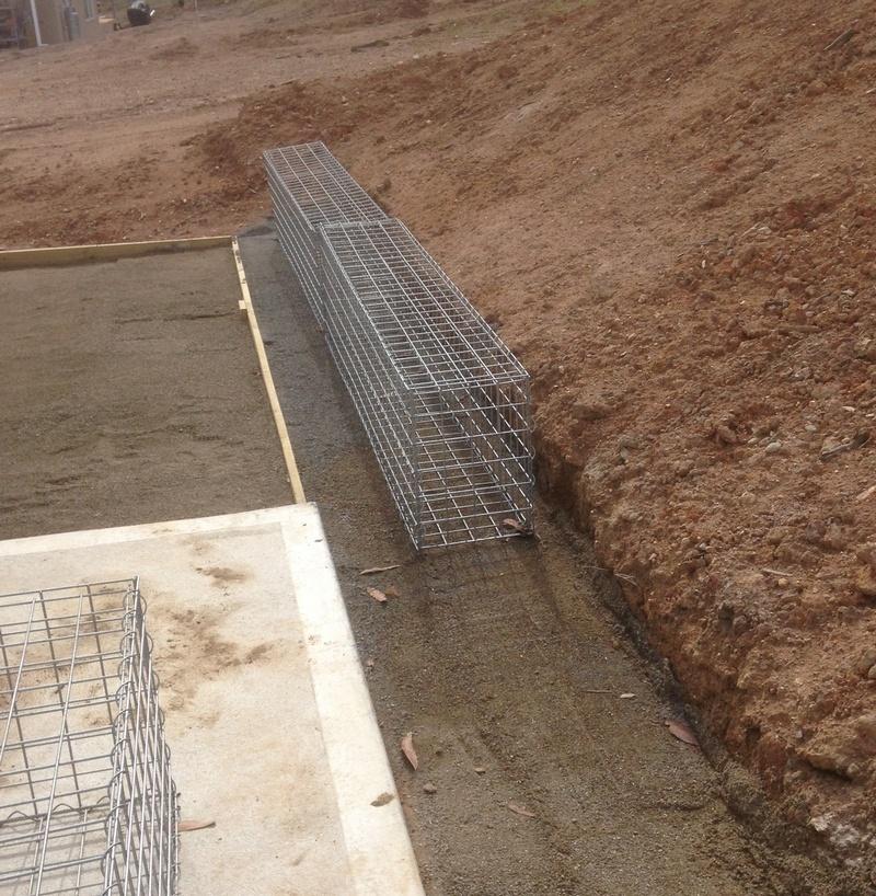 gabion foundation leveling