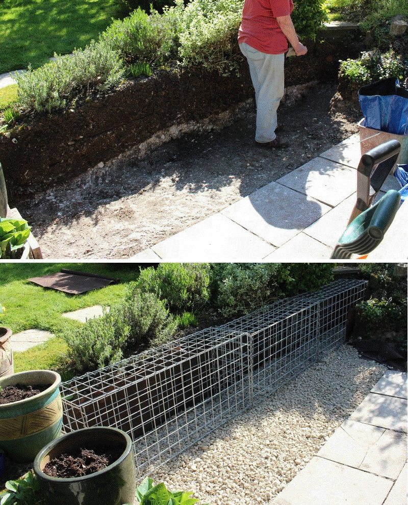 small gabion foundation example