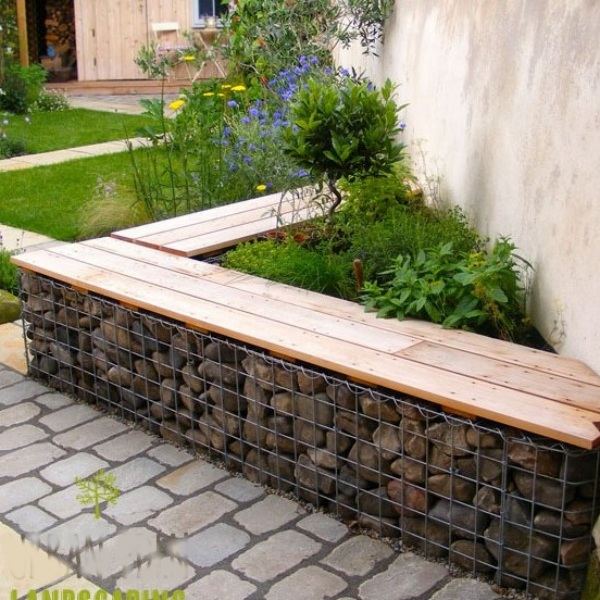 gabion seating wall