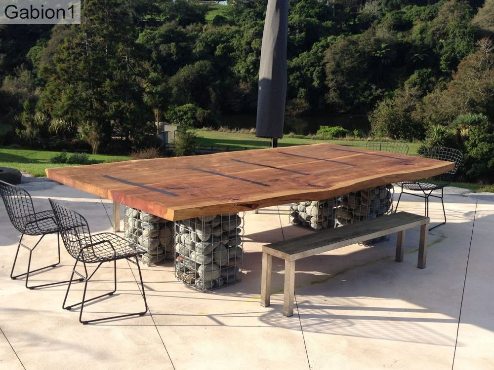 gabion outdoor table base