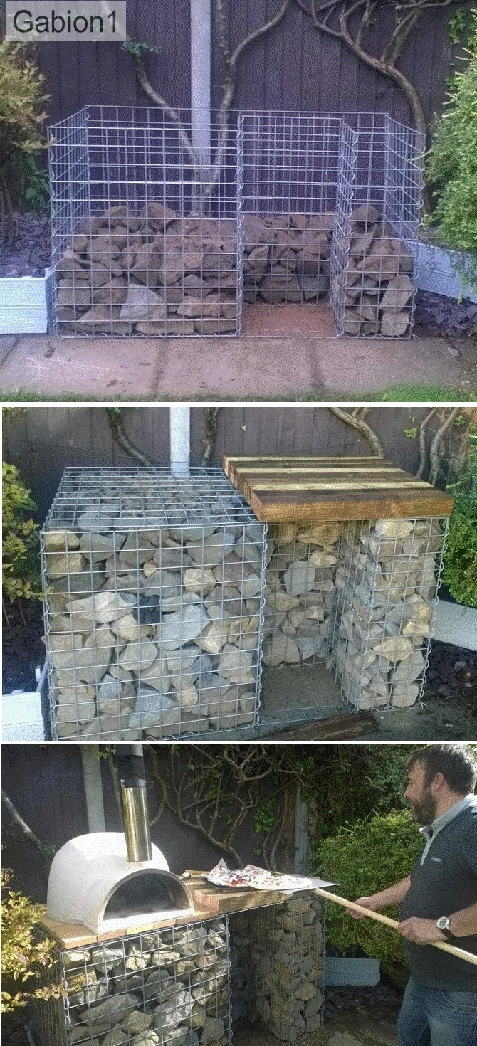 gabion pizza oven construction