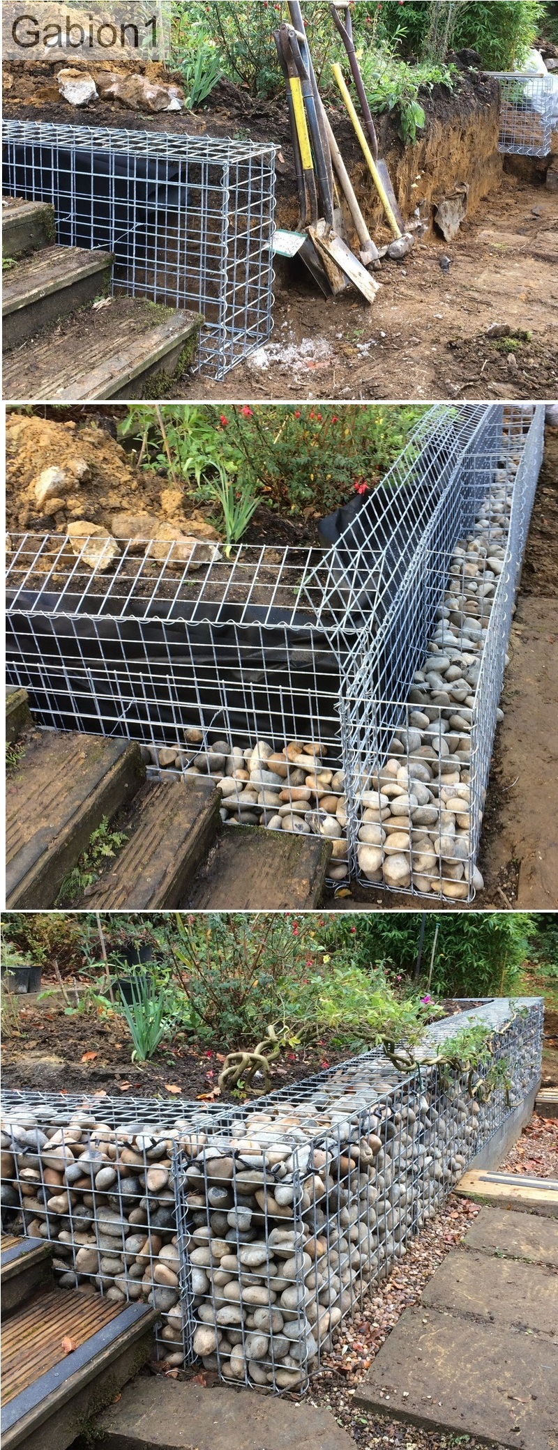 gabion construction sequence