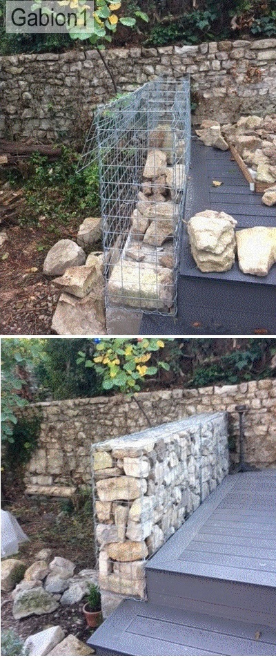 gabion wall construction