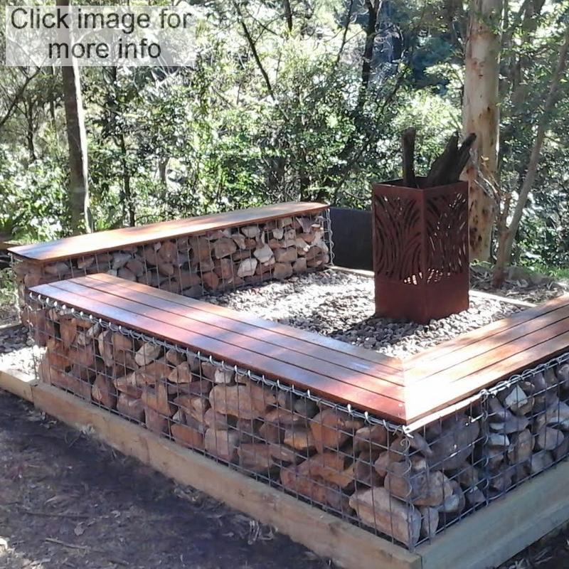 gabion fire pit seat