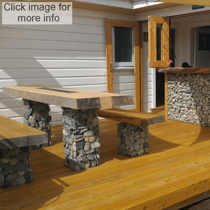 gabion seat and bar