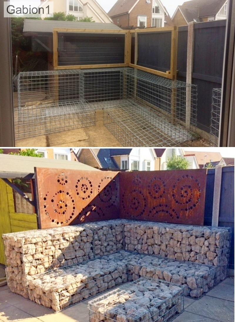 gabion fence supports